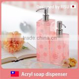 Premium and Colorful liquid soap dispenser with square , fairy tale motif