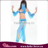 New arrival strapless style sexy costumes for dance blue lace girls costumes hot sale woman costume wholesale