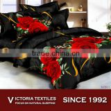 red rose printed duvet quilt cover bedding sheet set BRAND NEW