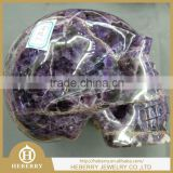 amethyst crystal skull carving/skeleton ornament Fengshui products for collection