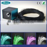 Fiber optic deck lighting fiber optic outdoor lighting with 5W LED light engine and black PVC sheathed sheathed fiber cables