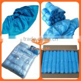 PE Non woven disposable shoe cover with Ankle High for electronic dust-free workshop, high ankle shoes