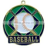 Baseball medals with green color painted, custom baseball medals wholesale