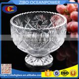 clear ice cream cup glass bowl