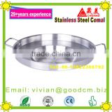 HEAVY DUTY 23'' Wide Stainless Steel Concave Gomal Griddle Pan Cooking Grill Fry Pan Large