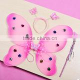 Kids Holiday girl Costume Butterfly Fairy Wing And Wand Set dress up set