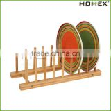 Eco-friendly Dish Drying Rack Utensil Holder, Beautiful and Durable Bamboo/Homex_Factory