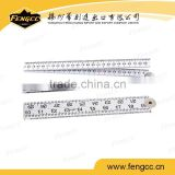 Cheap 2M advertising plastic folding ruler with logo printed for promotion