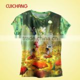 sublimation women t-shirts,fashion polyester sublimation t-shirt