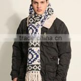 jacquard or plain flat circle warp knitting machine winter men and women woolen scarf factory