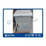 LED Lamp Pole Mounted Outdoor Battery Cabinet , Outdoor Communication Cabinets With Door Sensor