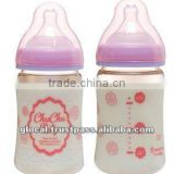 Japan Wide-Neck PPSU Baby Bottle (Girls) with Silicone Teat 160ml Wholesale