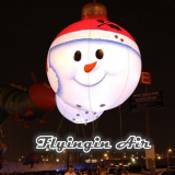 Hanging Inflatable Led Balloons Christmas Snowman for Home Decoration