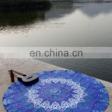 Indian Ethnic Blue Star Mandala Wall Hanging Round Tapestry Throw Hippie Bohemian Bedspread Roundie Table Cloth Bed Throw