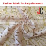 AL1769 shaoxing JC wholesale high quality lace cotton nylon fabric for dress
