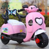 Kids toy with battery three wheel white cartoon design kids electirc bicycle with music and ligth motor cycle