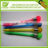 2014 Plastic Pen Advertising Promotional LED Ball Pen