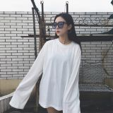 long-sleeved T-shirt Korean version of the female loose student sweater spring thin shirt