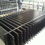 powder coated crimped spear tubular fence commercial border fencing