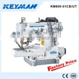 KM600-01CB/UT Cylinder-bed interlock sewing machine with auto-trimmer cover stitch sewing machine 600 sewing machine price