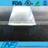 transparent smooth surface silicone rubber belt