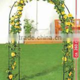 Metal Garden Arch with gate For Plants Climbing