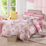 China products pink floral printed pillowcase super king bedding comforter sets dubai bed cover set