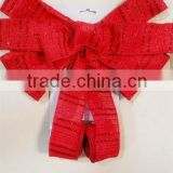 Red Butterfly Bow Ties with Twist Edge AND Double Ears for Christmas Tree hanging decoration