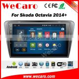 Wecaro WC-SO1014 10.2 inch android 4.4/5.1 car stereo audio for skoda octavia car dvd player 2014 + Wifi 3G GPS Radio RDS
