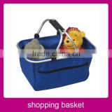 2014 supermarket double hand held colorful shopping baskets