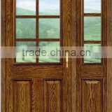 luxury design USA and Canada market wood grain 9 glass insert 30-42 inch fiberglass double door