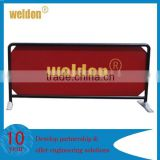 Custom metal frame outdoor crowd control barrier banner stanchion