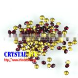 Factory direct sale siam colour glass chaton beads, faceted cut crystal , foiled back stones