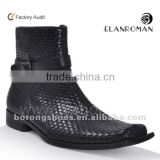 Buckle fashion men high quality leather boots 2015                                                                         Quality Choice