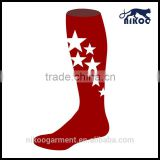 Made knee-high customized football knitted mens design wholesale custom soccer socks customs