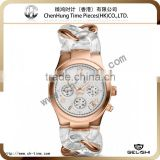 2014 custom quartz chinese mechanica female wrist watch stainless steel and lucid resin jeans chain watch