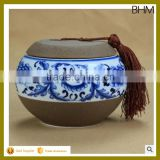 2016 Blue and white porcelain hand decal home decoration ceramic used container made in China                                                                         Quality Choice