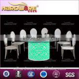 Glass top dining table and chairs set/special wedding table and chair for home and hotel
