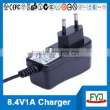 lithium battery charger module 8.4v 1a with EU US UK AU plug YJP-084100