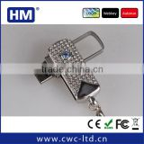 Wholesale swivel jewelry usb flash drive with 2GB4GB8GB16GB choice custom solution package/LOGO