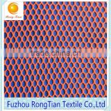 Orange polyester tricot 90g hexagonal mesh fabric for bags lining