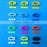 colorful plastic euro hook, customized logo