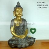 Hand Painting Golden Color Resin Female Buddha Statue For Sale                                                                         Quality Choice