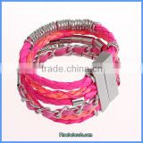 Wholesale Hot Sale Braided Leather High Quality Bracelet Vners FHB-001D