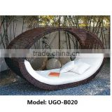 Garden leisure plastic Chaise Lounge Chair, Ourdoor Rattan furniture