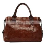 S446-B2526 european style vintage crocohide cow hide leather handbags woman bags wholesale