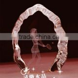 New Arrived Fashion 3d Laser Engraving Crystal Award Tropy,crystal souvenir trophy,crystal iceberg