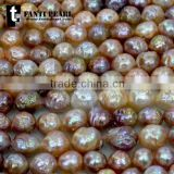 AAA big size wholesale natural color loose freshwater high quality baroque pearl for necklace strands