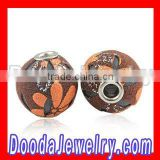 2012 Fashion floral Jewelry Leather Beads Basketball Wives Earrings Beads Wholesale