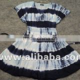 Black & White tie & dye cotton skirt's / Latest dress designs photos fancy girls party dresses kids fancy dress